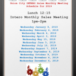 Monthly Sales Meeting Yearly Schedule