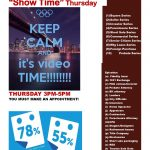 SHOW TIME THURSDAY