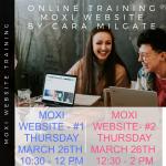 MOXI WEBSITE TRAINING
